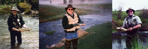 The author with Castle Rock Creek trout in hand