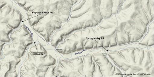 Big Green River - Map 1