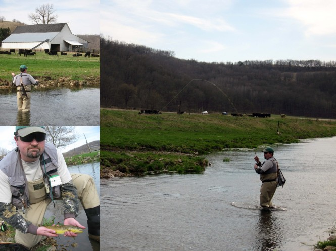 The Author's Brother-in-law Fights and Lands a Nice Brown Trout