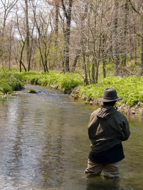 My Daughter Caitlin Faces Off With the Trout on a Small River